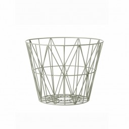Ferm Living Wire Basket Small Dusty Green-20