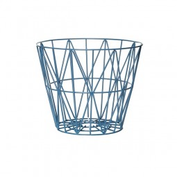 Ferm Living Wire Basket Small Petrol-20
