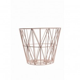 Ferm Living Wire Basket Small Rosa-20