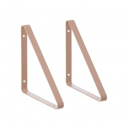 Ferm Living Metal Shelf Hangers Hyldeknægte i Rosa-20