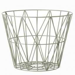 Ferm Living Wire Basket Large Dusty Green-20