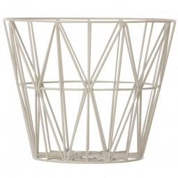 Ferm Living Wire Basket Large Grå-20