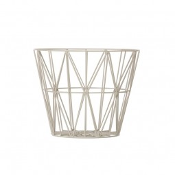 Ferm Living Wire Basket Small Grå-20