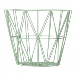 Ferm Living Wire Basket Large Mint-20