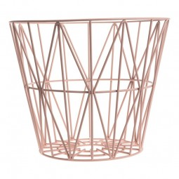 Ferm Living Wire Basket Large Rosa-20