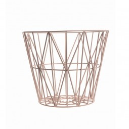 Ferm Living Wire Basket Medium Rosa-20