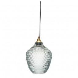 Hübsch Harlekin Pendel Lampe Glas/Messing Blå-20