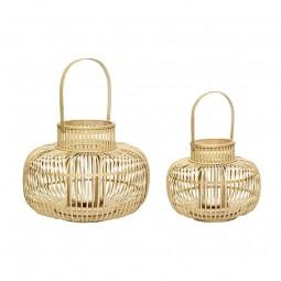Hübsch Lanterne Bambus Natur 2 Stk-20
