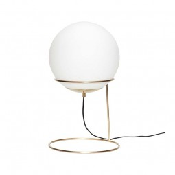 Hübsch Lav Gulv Lampe Rund Opal/Messing-20