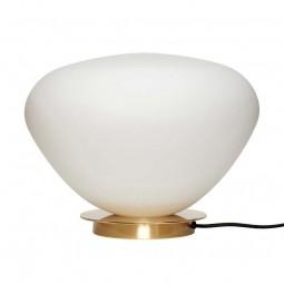 Hübsch Opal Bordlampe Hvid/Messing-20