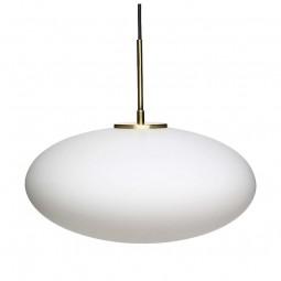 Hübsch Opal Pendel Lampe Hvid/Messing Medium-20