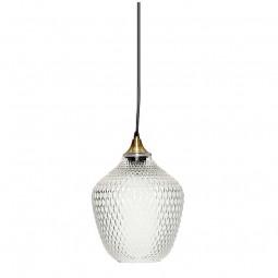 Hübsch Harlekin Pendel Lampe Glas/Messing Klar-20