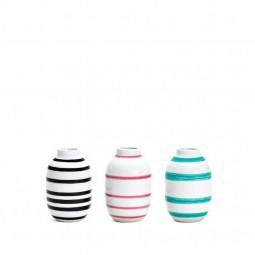 Kähler Omaggio Vaser 3-pak H80 Sort, Rosa, Lys grøn-20