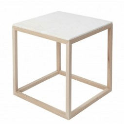 Kristina Dam The Cube Bord Medium Hvid Marmor/Eg-20