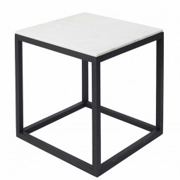 Kristina Dam The Cube Bord Medium Hvid Marmor/Sort Eg-20