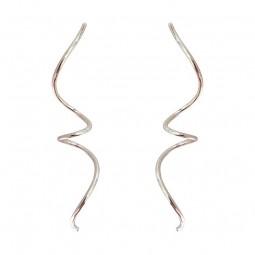 Laøhlé Large Spirals Øreringe Sølv-20