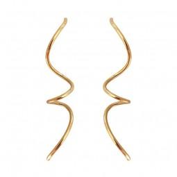 Laøhlé Large Spirals Øreringe Guld-20