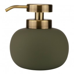 Mette Ditmer LOTUS Sæbedispenser Lav Dark Olive/Messing-20