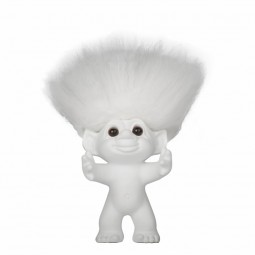 bySommer Lykketrold Mat hvid m. hvidt hår-12 cm.-20