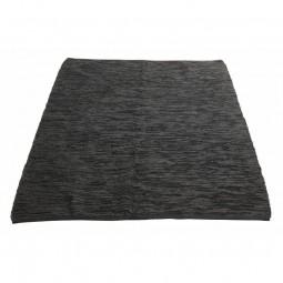 Muubs Håndvævet tæppe i læder ASH 140x200 cm.-20