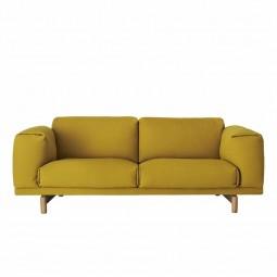 Muuto Rest Sofa 2 pers. Gul (Hallingdal 457)-20