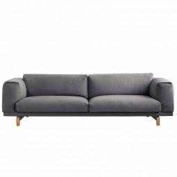 Muuto Rest Sofa 3 pers. Mørkegrå (Remix 163)-20