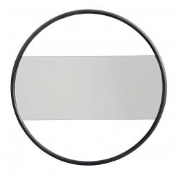 Nordal Rektangulært Spejl m. Rund Jernramme Ø55 cm Sort-20