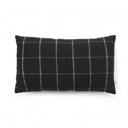 Normann Copenhagen Flair Pude 35x60 cm Black Grid-20