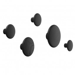 MUUTO The dots gaveæske M/5 knage Sort-20