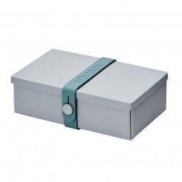Uhmm Box No. 01 Light Grey Box/Petrol Strap 10x18 cm.-20