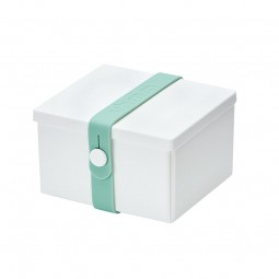 Uhmm Box No. 02 White Box/Mint Strap 10x12 cm.-20