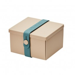 Uhmm Box No. 02 Mocca/Petrol Strap 10x12 cm.-20