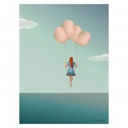ViSSEVASSE Go Baby Plakat Balloon Dream-20