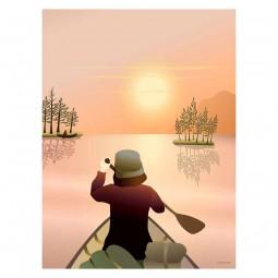 ViSSEVASSE Go Baby Plakat Canoeing On The Lake-20