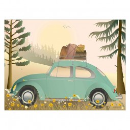 ViSSEVASSE Go Baby Plakat VW Beetle Green-20
