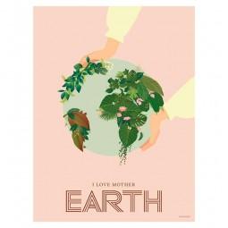 ViSSEVASSE Minimalist Plakat I Love Mother Earth-20