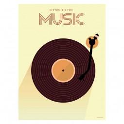 ViSSEVASSE Minimalist Plakat Listen To The Music-20