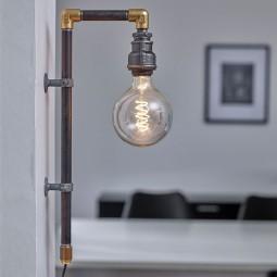 WallPipe Væglampe Sort-20