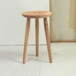We Do Wood Button Stool Taburet Rød Cedertræ Limited Edition-20