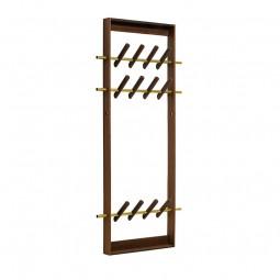 We Do Wood Coat Frame Knagerække Røget Eg/Messing-20