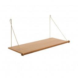 We Do Wood Hylde Loop Shelf Eg/Messing-20
