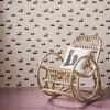 Ferm Living Tapet Rabbit Rosa-01