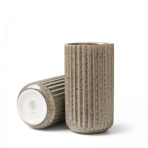 Lyngby Radiance Vase - Fajance 15 cm - Grå