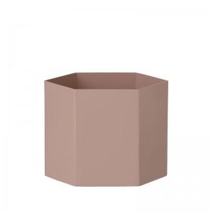 Ferm Living Hexagon Potte XLarge - Rosa