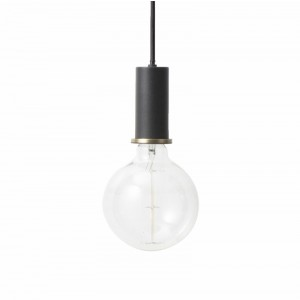 Ferm Living Socket Pendel Lav - Sort