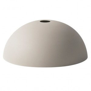 Ferm Living Lampeskærm - Dome Shade - Lysegrå