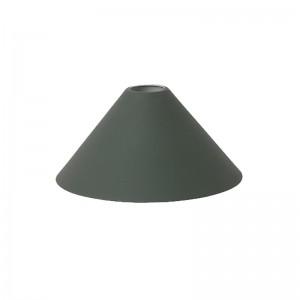 Ferm Living Lampeskærm - Cone Shade - Mørkegrøn