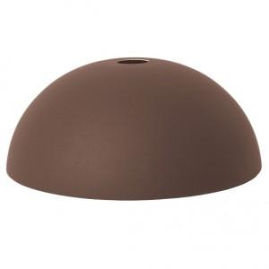 Ferm Living Lampeskærm - Dome Shade - Rødbrun