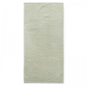 Normann Copenhagen Badehåndklæde - Imprint - Slash Pistacie - 70x140 cm