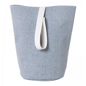 Ferm Living Vasketøjskurv - Chambray - Stor - Blå